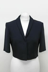 HOBBS-Ladies-Jacket-Wren-Cropped-Navy-Blue-3-4-Sleeve-Blazer-EU38-UK10-NEW