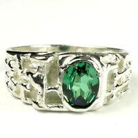 • R197-wg, Russian Nano Crystal, 10k White Gold Men's Ring -handmade