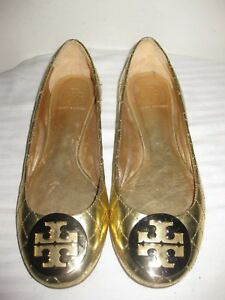 f5869e7e6479 Image is loading Tory-Burch-QUINN-Quilted-Patent-Leather-Ballet-Flat-