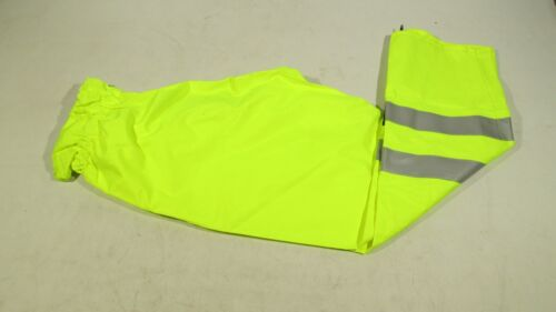 Ex Police Hi Vis Waterproof Foul Weather Overtrousers With Elasticated Waist