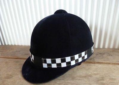 Motivata Nuovo * Black & Silver Controllo Hi Viz Riflettente Fluorescente Equitazione Casco Cappello Band- Sconti Prezzo