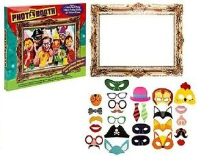 25Pc-Photo-Booth-Selfie-Props-With-Picture-Frame-Childrens-Kids-Party-Activity