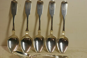 tyylikkäät kengät ammattimainen myynti maksaa viehätysvoimaa Details about 6 American sterling spoons, R & W Wilson,  Phila.1825,monogramed.