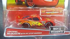 DISNEY PIXAR CARS MOVIE MOMENTS LIGHTNING MCQUEEN PIT STOP BARRIER 2017 SAVE 5%