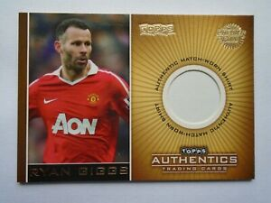 2010 TOPPS PREMIER GOLD authentics Ryan Giggs Manchester United shirt relic card