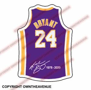 KOBE BRYANT #24 BASKETBALL VINYL STICKER CAR TRUCK DECAL LAPTOP ...