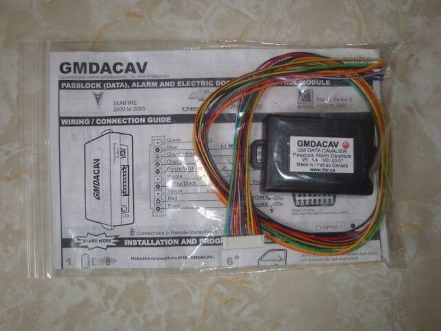 Fortin GMDACAV Cavalier Sunfire Saturn-S Data Bypass Ki