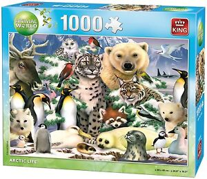 1000-Piece-Jigsaw-Puzzle-Arctic-Life-Polar-Bear-Penguins-Snow-Animals-05485