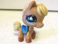 Littlest Pet Shop Messiest Pony Horse #840 Blue Saddle Splatter Eyes Hasbro LPS