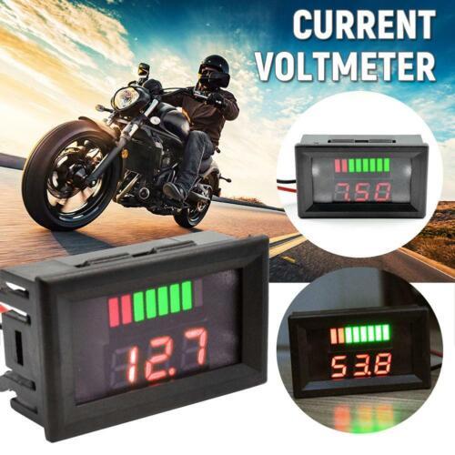 12V Voltage Meter Car Marine Motorcycle LED Digital Voltmeter Battery Gauge
