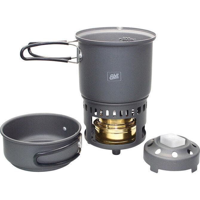 Esbit Alcohol Stove Trekking Cookset ESB87014 Lightweight, anodized aluminum con