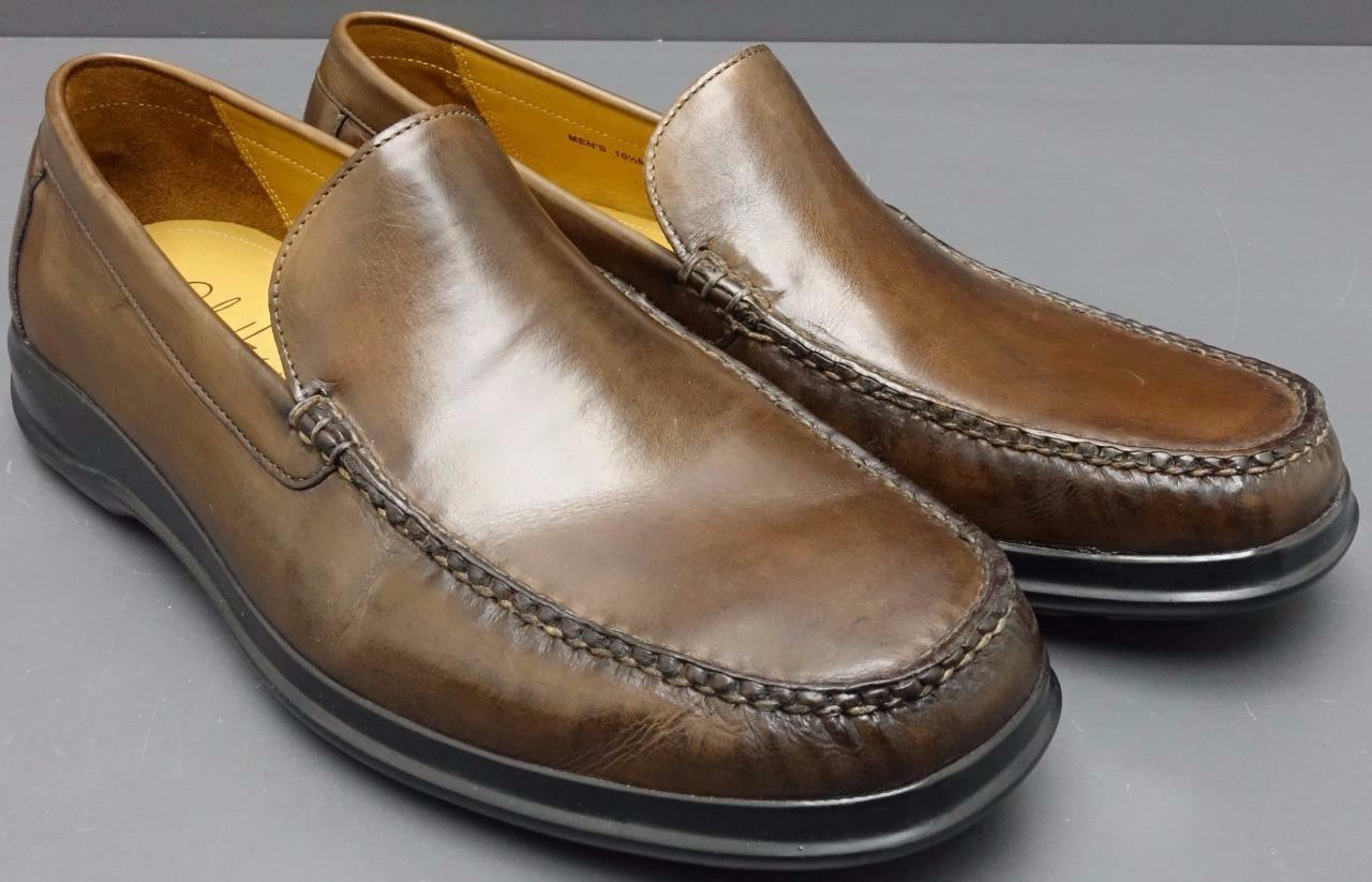 Men Cole Haan CO8389 Brown Leather Slip On Moccasin Loafer shoes 10.5M