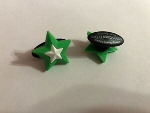 Green Star Shoe-Doodle Green Star Shoe Charm for Crocs Shoe Charms PSC001G