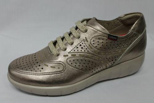 Scarpe Sneakers Callaghan 11609 pelle oro zeppa 4 cm €129-20/%