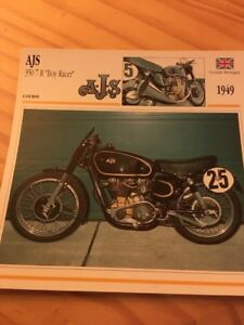 AJS-350-7R-034-Boy-Racer-034-1949-Card-motorrad-Collection-Atlas