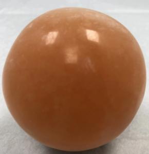 2-8-034-Orange-Selenite-Sphere-Crystal-Quartz-Natural-Stone-W-Wood-Base-Ball