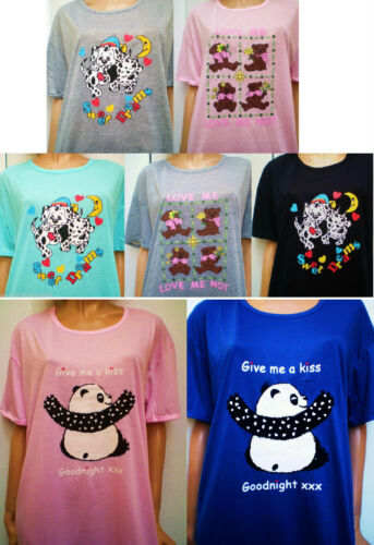 New Fashion Princess Cutie Motif Ladies//girls Polycotton Nightshirt 7 Choices