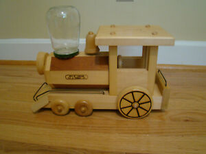 Details About Vintage Carson Toy Trinket Company Wooden Train Gumball Dispenser Coin Bank