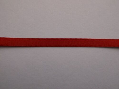 5 meters Red Double Faced Ribbon 100 /% polyester 3mm 1//8/""