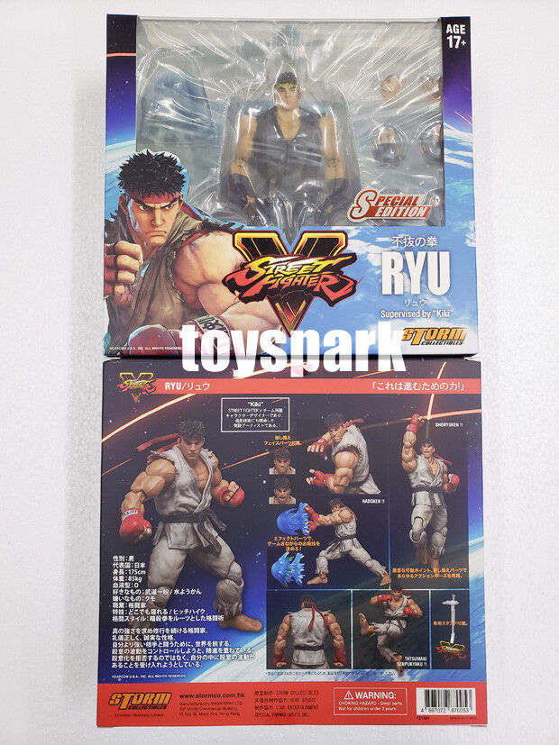 Sturm collectibles street fighter   ryu sonderausgabe blaue farbe action - figur