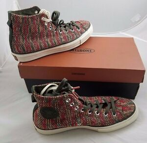 CONVERSE X MISSONI CTAS  70 HI FOREST NIGHT WOVEN MESH MENS 10 ... 9d735f858