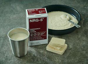 WELTUNTERGANG: 4x NRG-5 Notnahrung Notration Energieriegel Emergency Food Ration