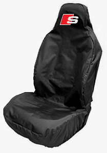 AUDI S-LINE CAR SEAT COVER PROTECTOR SPORTS BUCKET HEAVY DUTY FITS A5