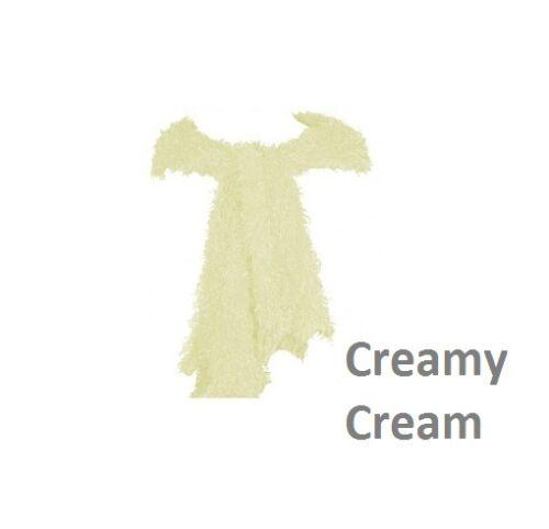 Ladies Womens  Magic Scarf Fluffy Snood Shawl Neck Warmer Poncho Cream