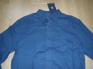 t foncᄄᆭ bleu marine Jeans en coton de shirt Farah modernepour manches ᄄᄂ longues style PNwXZn0Ok8
