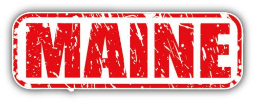 Maine USA State Grunge Stamp Car Bumper Sticker Decal 6/'/' x 2/'/'