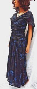 16 Robe de Sz noir saphir en London décorée et magnifiquement soirée Mariann Ross TwxngOO4