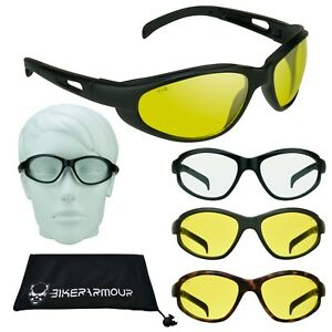 993972c9b51 Image is loading Z87-YELLOW-Safety-Driving-Sunglasses-Night-Vision -Motorcycle-