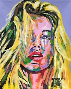 Original-Art-PAINTING-DAN-BYL-Contemporary-Modern-Portrait-Babe-Fantasy-5x4ft