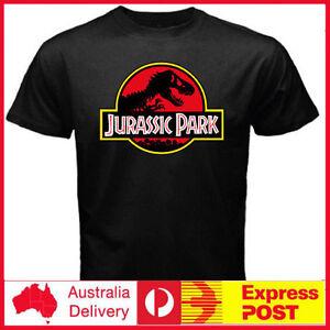 Jurassic-World-Movie-Jurassic-Park-Dinosaur-Ringer-T-Rex-Men-039-s-Black-T-shirt-Tee