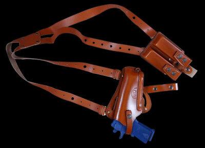 "Vertical Shoulder /& Belt Holster Fits Beretta 84F 4/"" K445-84 Horizontal 3in1"