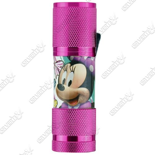 Kids Children Minnie Mouse,Frozen,Soy Luna Aluminium 9 LED Torch Girls Gift 3+Y