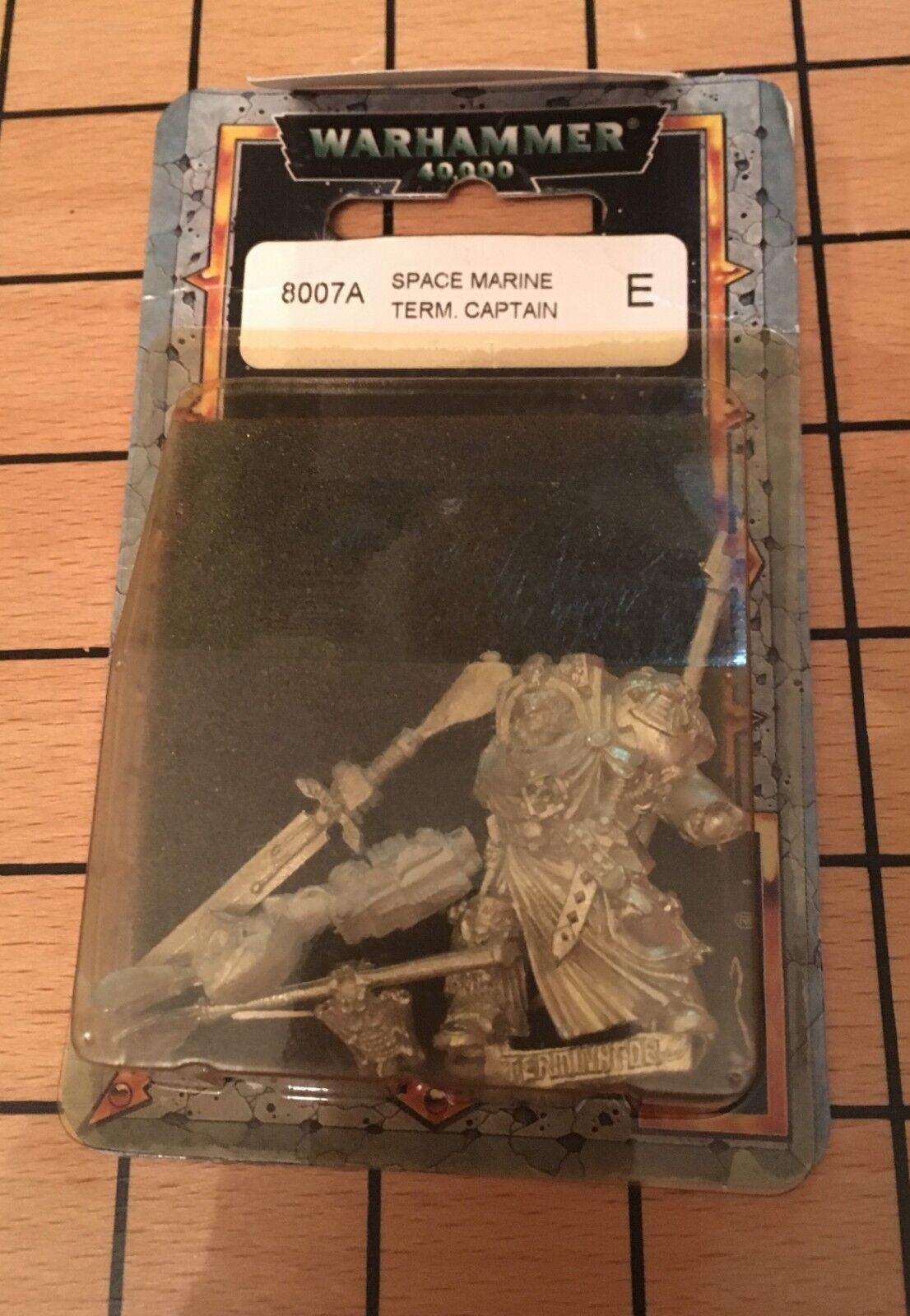 40 seltene - blisterpackung metall space marine terminator captain w schwert nib
