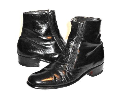 negro 5 W botín Bostonian vestido cremallera doble 8 Beatle cuero hombres Vintage qxvvTFwEa1