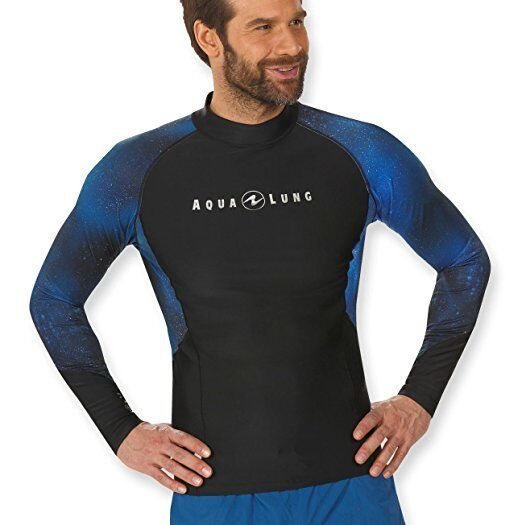 Aqua Lung Men's UV Sun Predection Long Sleeve Galaxy Rashguard