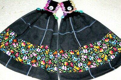 C K/'s Double Crochet Premium Heavy Hanging Towels by Cathy K ~ GOOD DOG !