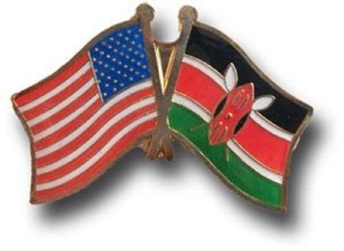 Wholesale Pack of 3 USA American Kenya Friendship Flag Bike Hat Cap lapel Pin