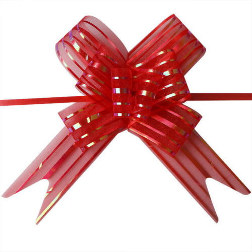 50pcs Large Organza Ribbon Pull Bows Wedding Party Decoration Gift Wrap 50mm