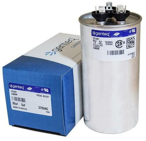 Kenmore Sears Capacitor 80//5 uf MFD x 370 VAC # 27L651 Genteq GE Replacement