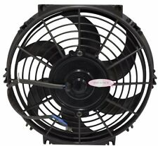10 INCH LOW PROFILE HIGH PERFORMANCE 12v THERMO FAN  WIRING 40 AMP RELAY TEMPERA