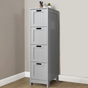 Image Is Loading Colonial Range Bathroom 4 Drawer Slim Chest Cabinet