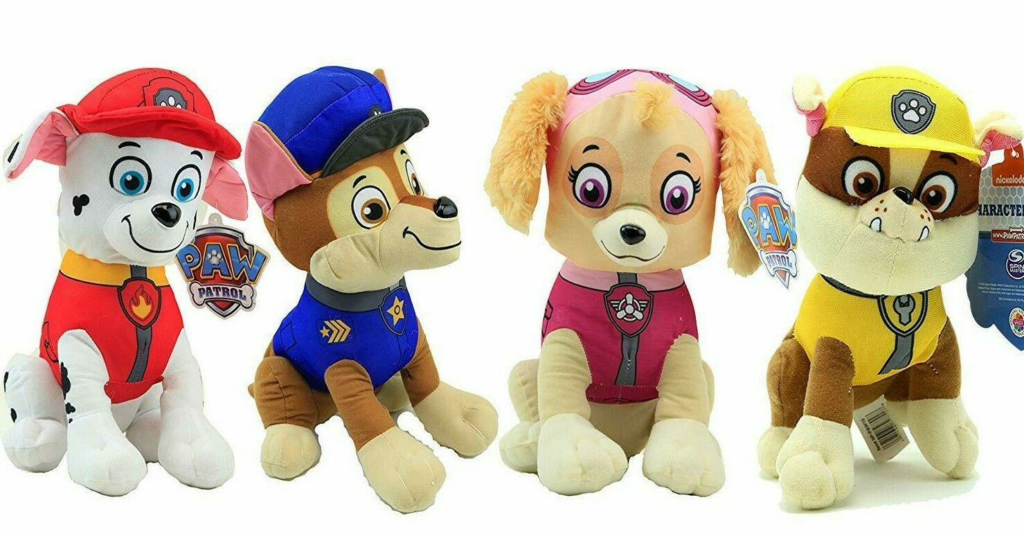 Set of 4 New Xlarge 14'' Paw Patrol Skye, Marshall.. Toys .Licensed Plush. LARGE