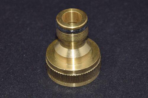 Messing Hahnstück Stecknippel 3//4 Zoll Standardanschluss Wasseranschluss
