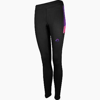 More Mile More-tech Womens Long Running Tights - Black Heller Glanz