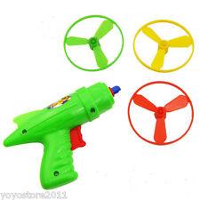 Space Toy Gun Shooter Spin Flying Saucer Disk Kit Children Kids Christmas Gift