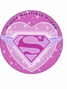 Fabulous Supergirl 7 5 Edible Icing Birthday Cake Topper 7426763477416 Ebay Funny Birthday Cards Online Elaedamsfinfo
